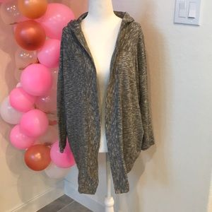H&M heather Gray marbled knit open front cardigan